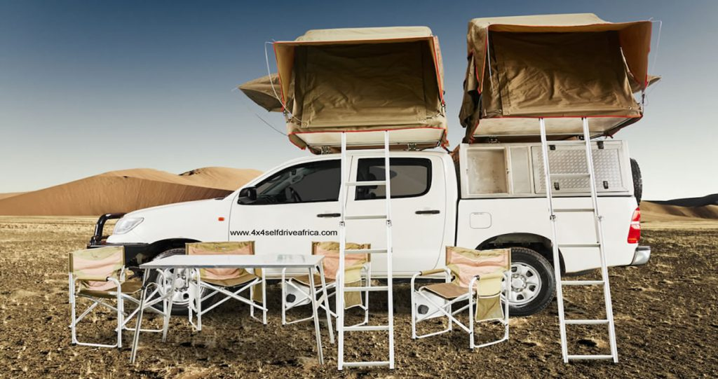 Double Cabin with 2 Roof Top Tent for 4 people